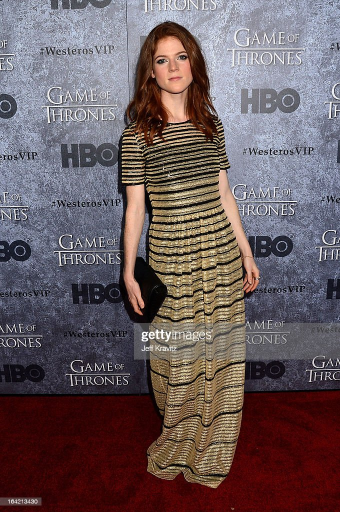 Actress Rose Leslie attends HBO's 'Game Of Thrones' Season 3 San Francisco Premiere on March 20, 2013 in San Francisco, California.
