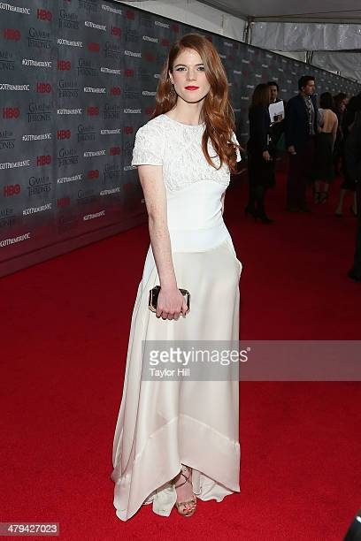 Actress Rose Leslie attends the 'Game Of Thrones' Season 4 premiere at Avery Fisher Hall Lincoln Center on March 18 2014 in New York City