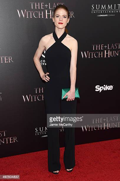 Actress Rose Leslie attends the New York premiere of 'The Last Witch Hunter' at AMC Loews Lincoln Square on October 13 2015 in New York City