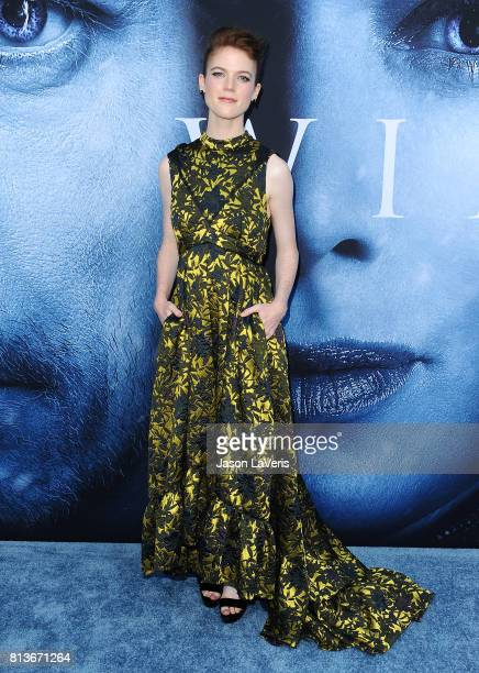 Actress Rose Leslie attends the season 7 premiere of 'Game Of Thrones' at Walt Disney Concert Hall on July 12 2017 in Los Angeles California