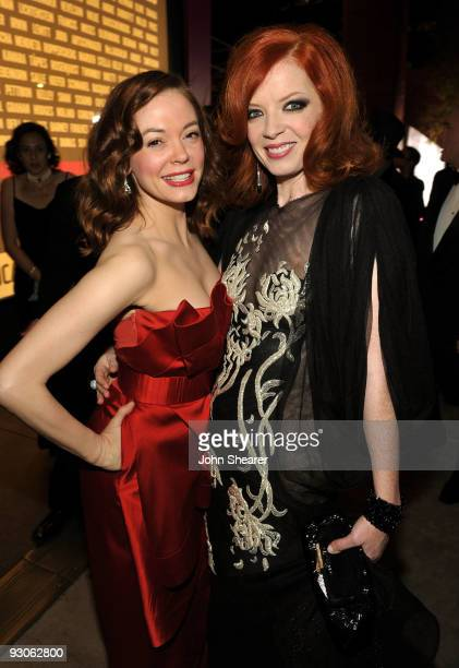 Actress Rose McGowan and musician Shirley Manson attends the MOCA NEW 30th anniversary gala held at MOCA on November 14 2009 in Los Angeles California