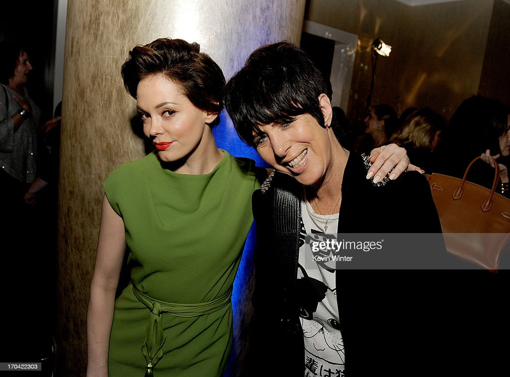 Actress <a gi-track='captionPersonalityLinkClicked' href=/galleries/search?phrase=Rose+McGowan&family=editorial&specificpeople=206451 ng-click='$event.stopPropagation()'>Rose McGowan</a> and songwriter <a gi-track='captionPersonalityLinkClicked' href=/galleries/search?phrase=Diane+Warren&family=editorial&specificpeople=234753 ng-click='$event.stopPropagation()'>Diane Warren</a> attend Women In Film's 2013 Crystal + Lucy Awards at The Beverly Hilton Hotel on June 12, 2013 in Beverly Hills, California.