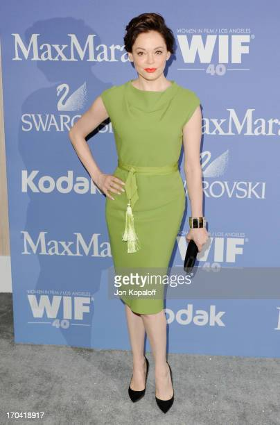 Actress Rose McGowan arrives at the 2013 Women In Film's Crystal Lucy Awards at The Beverly Hilton Hotel on June 12 2013 in Beverly Hills California