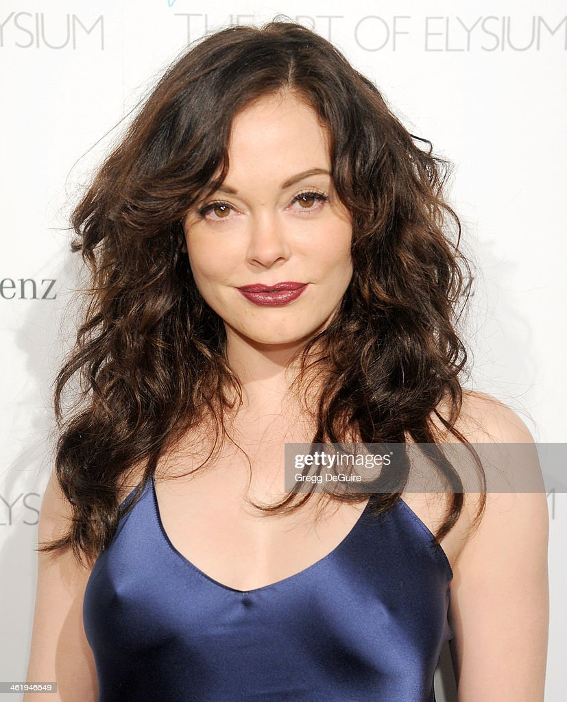 Actress Rose McGowan arrives at The Art of Elysium's 7th Annual HEAVEN Gala at the Guerin Pavilion at the Skirball Cultural Center on January 11, 2014 in Los Angeles, California.