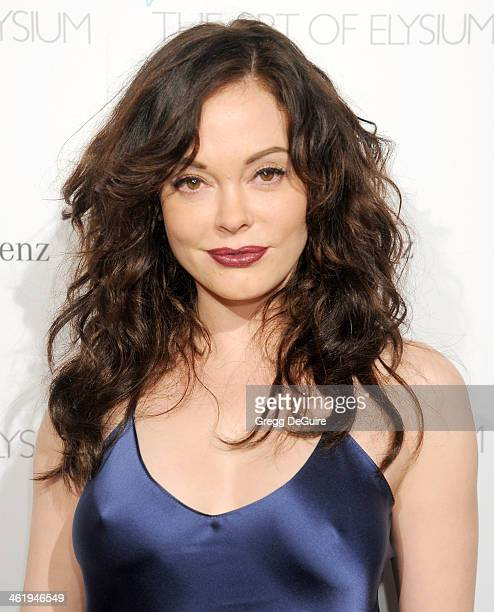 Actress Rose McGowan arrives at The Art of Elysium's 7th Annual HEAVEN Gala at the Guerin Pavilion at the Skirball Cultural Center on January 11 2014...