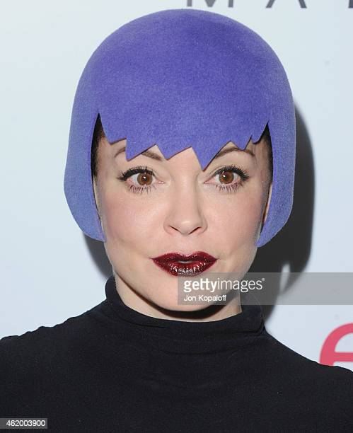 Actress Rose McGowan arrives at The Daily Front Row's 1st Annual Fashion Los Angeles Awards at Sunset Tower Hotel on January 22 2015 in West...