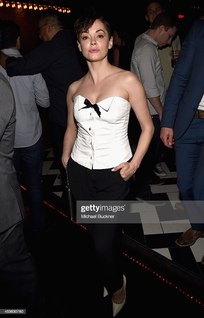 Actress <a gi-track='captionPersonalityLinkClicked' href=/galleries/search?phrase=Rose+McGowan&family=editorial&specificpeople=206451 ng-click='$event.stopPropagation()'>Rose McGowan</a> attends Crackle Presents: Summer Premieres Event for originals, 'Sequestered' and 'Cleaners' at 1 OAK on August 14, 2014 in West Hollywood, California.