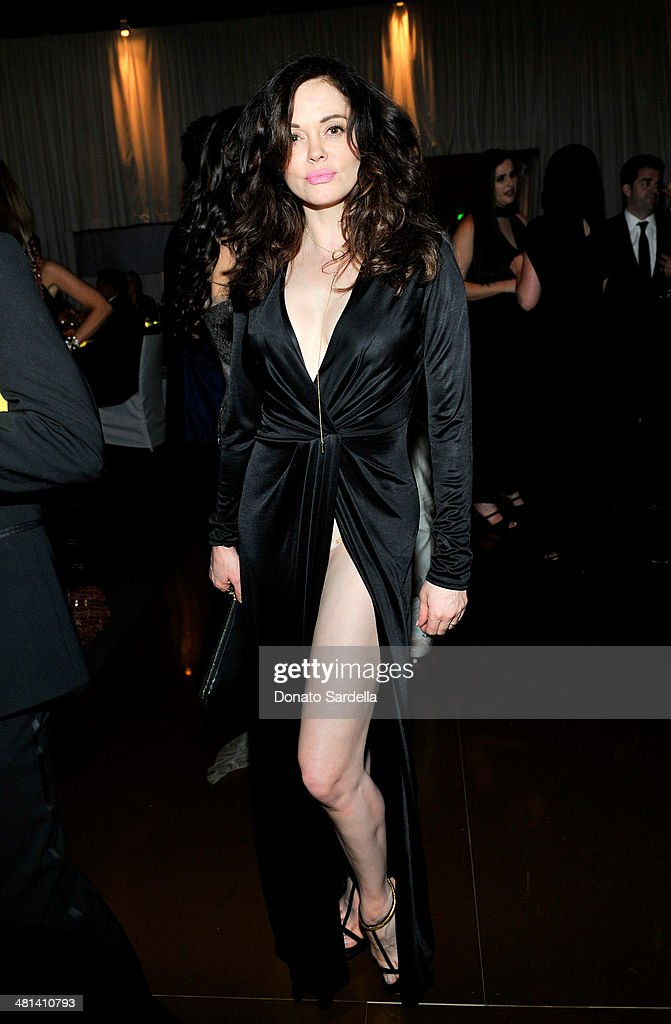 Actress <a gi-track='captionPersonalityLinkClicked' href=/galleries/search?phrase=Rose+McGowan&family=editorial&specificpeople=206451 ng-click='$event.stopPropagation()'>Rose McGowan</a> attends MOCA's 35th Anniversary Gala presented by Louis Vuitton at The Geffen Contemporary at MOCA on March 29, 2014 in Los Angeles, California.