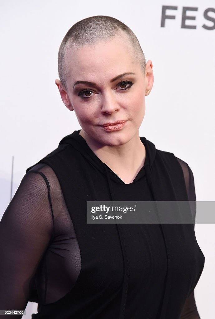 Actress Rose McGowan attends 'SHOT! The Psycho-Spiritual Mantra Of Rock' Screening during 2016 Tribeca Film Festival on April 22, 2016 in New York City.