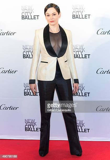 Actress Rose McGowan attends the 2015 New York City Ballet Fall Gala at David H Koch Theater at Lincoln Center on September 30 2015 in New York City