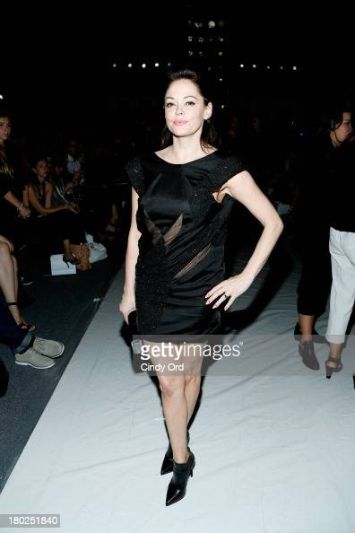 Actress Rose McGowan attends the Alon Livne fashion show during MercedesBenz Fashion Week Spring 2014 at The Studio at Lincoln Center on September 10...