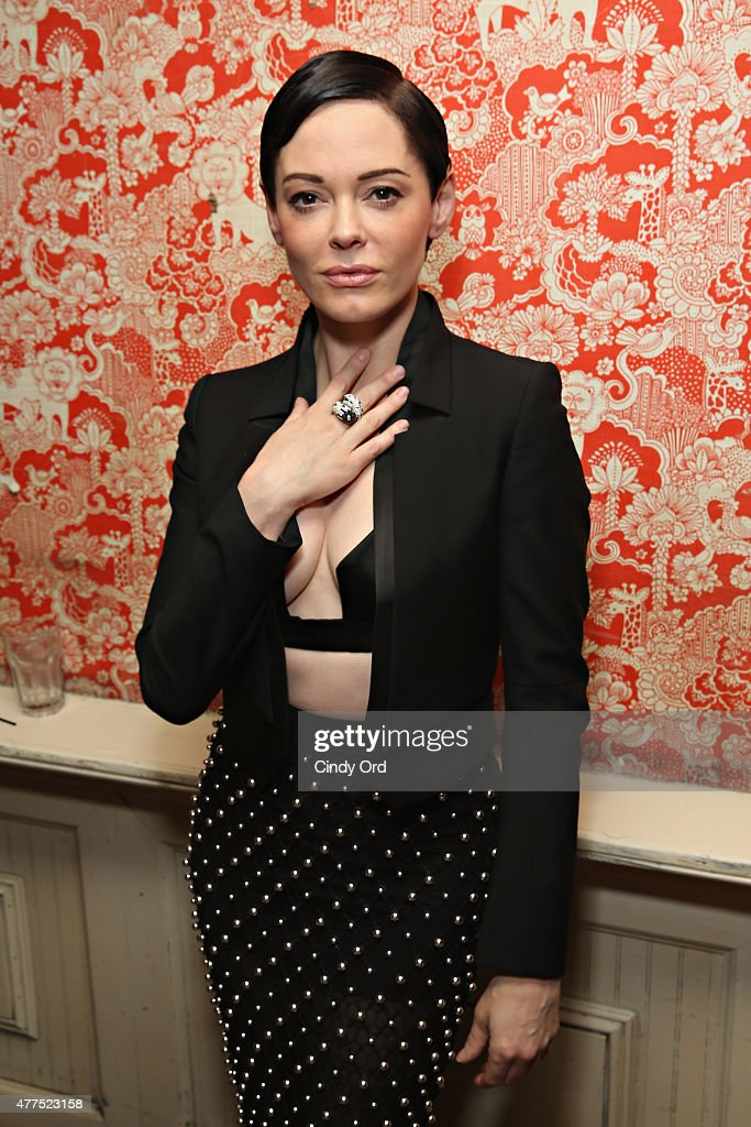 Actress <a gi-track='captionPersonalityLinkClicked' href=/galleries/search?phrase=Rose+McGowan&family=editorial&specificpeople=206451 ng-click='$event.stopPropagation()'>Rose McGowan</a> attends the Casa Reale Fine Jewelry Launch at The Box on June 17, 2015 in New York City.