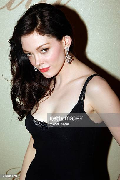 Actress Rose McGowan attends The Chopard Trophy held at the Rosarie Club during the 60th International Cannes Film Festival May 25 2007 in Cannes...
