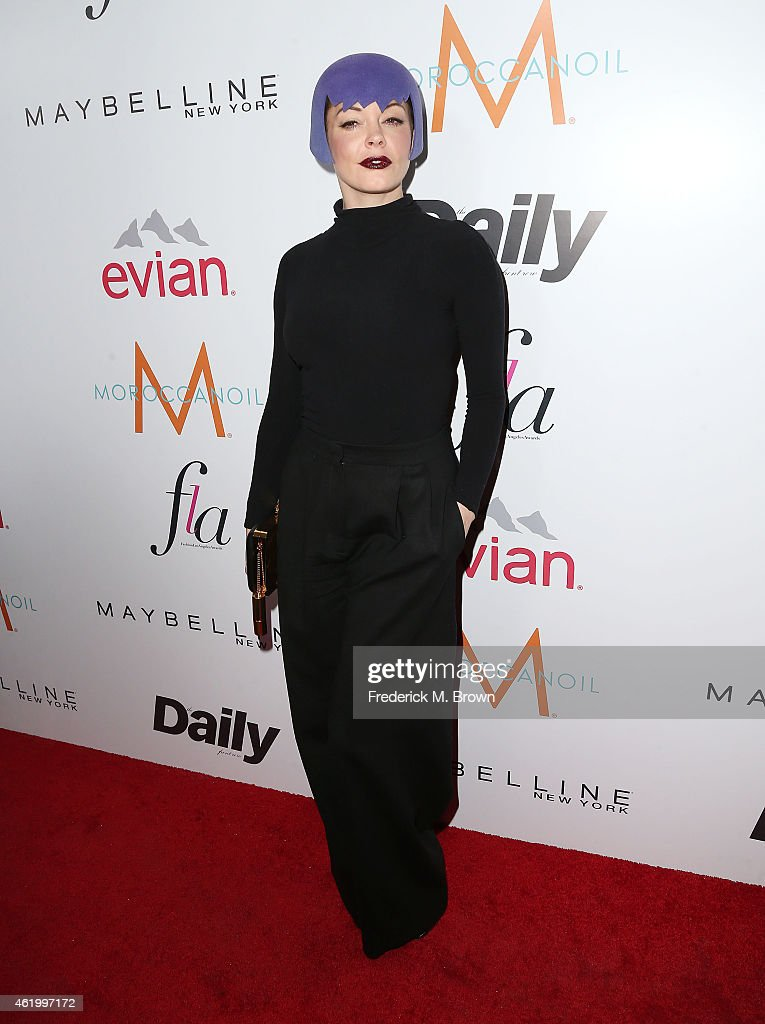 Actress <a gi-track='captionPersonalityLinkClicked' href=/galleries/search?phrase=Rose+McGowan&family=editorial&specificpeople=206451 ng-click='$event.stopPropagation()'>Rose McGowan</a> attends The DAILY FRONT ROW 'Fashion Los Angeles Awards' at the Sunset Tower Hotel on January 22, 2015 in West Hollywood, California.