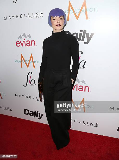 Actress Rose McGowan attends The DAILY FRONT ROW 'Fashion Los Angeles Awards' at the Sunset Tower Hotel on January 22 2015 in West Hollywood...