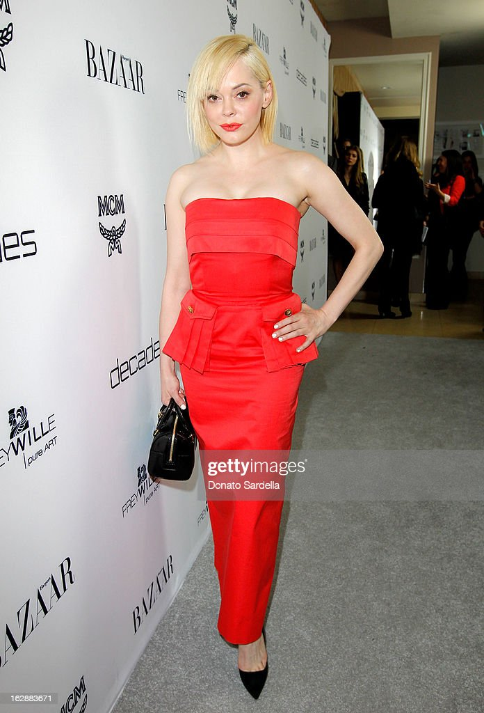 Actress Rose McGowan attends the Dukes Of Melrose launch hosted by Decades, Harper's BAZAAR, and MCM on February 28, 2013 in Los Angeles, California.