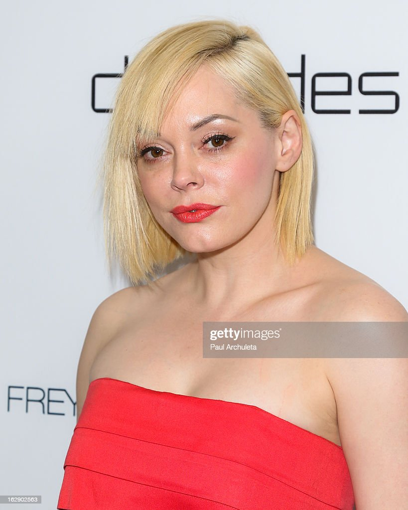 Actress Rose McGowan attends the Harper's BAZAAR celebration for the new Bravo series 'Dukes of Melrose' at The Terrace at Sunset Tower on February 28, 2013 in West Hollywood, California.