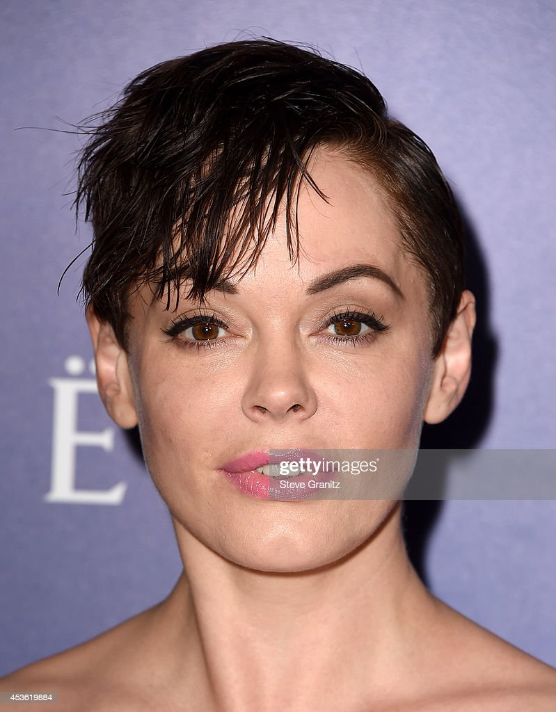 Actress <a gi-track='captionPersonalityLinkClicked' href=/galleries/search?phrase=Rose+McGowan&family=editorial&specificpeople=206451 ng-click='$event.stopPropagation()'>Rose McGowan</a> attends The Hollywood Foreign Press Association Installation Dinner at The Beverly Hilton Hotel on August 14, 2014 in Beverly Hills, California.