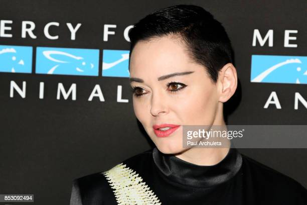 Actress Rose McGowan attends the Mercy For Animals' Annual Hidden Heroes Gala at Vibiana on September 23 2017 in Los Angeles California