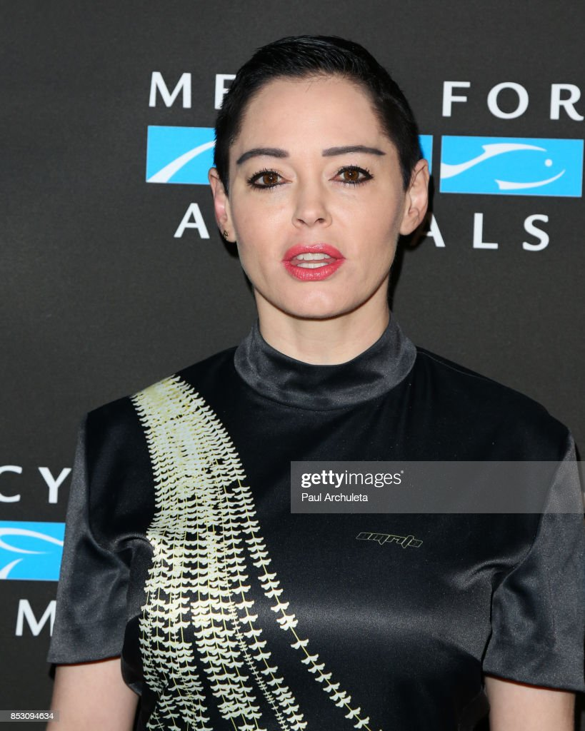 Actress Rose McGowan attends the Mercy For Animals' Annual Hidden Heroes Gala at Vibiana on September 23, 2017 in Los Angeles, California.