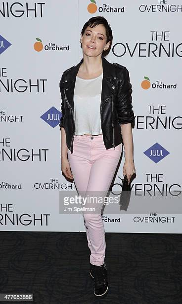 Actress Rose McGowan attends 'The Overnight' New York premiere at Landmark's Sunshine Cinema on June 18 2015 in New York City