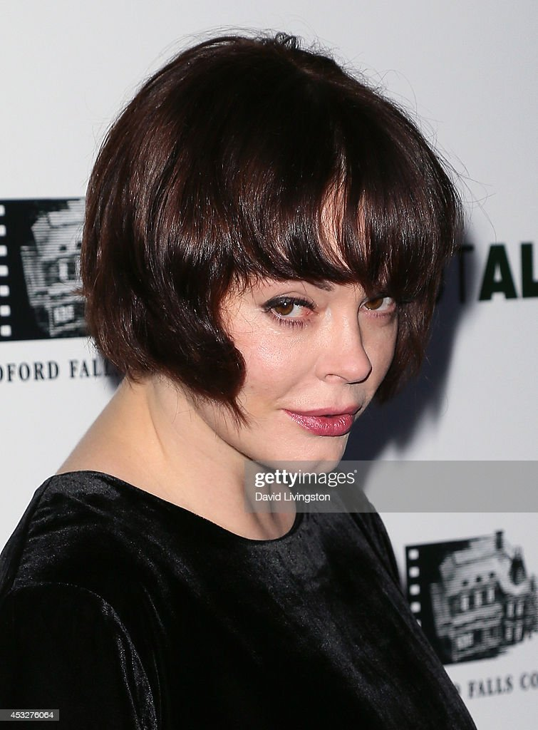 Actress <a gi-track='captionPersonalityLinkClicked' href=/galleries/search?phrase=Rose+McGowan&family=editorial&specificpeople=206451 ng-click='$event.stopPropagation()'>Rose McGowan</a> attends the premiere of 'About Alex' at ArcLight Hollywood on August 6, 2014 in Hollywood, California.