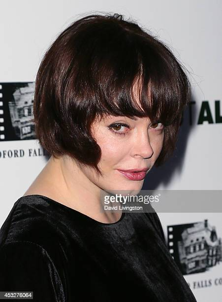 Actress Rose McGowan attends the premiere of 'About Alex' at ArcLight Hollywood on August 6 2014 in Hollywood California