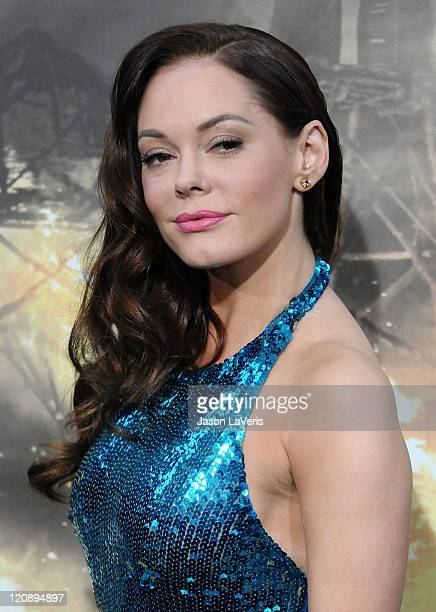 Actress Rose McGowan attends the premiere of 'Conan The Barbarian' at Regal 14 at LA Live Downtown on August 11 2011 in Los Angeles California