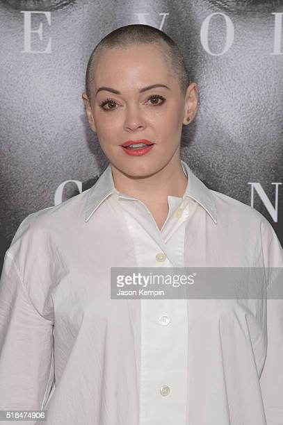 Actress Rose McGowan attends the premiere of HBO Films' 'Confirmation' at Paramount Theater on the Paramount Studios lot on March 31 2016 in...