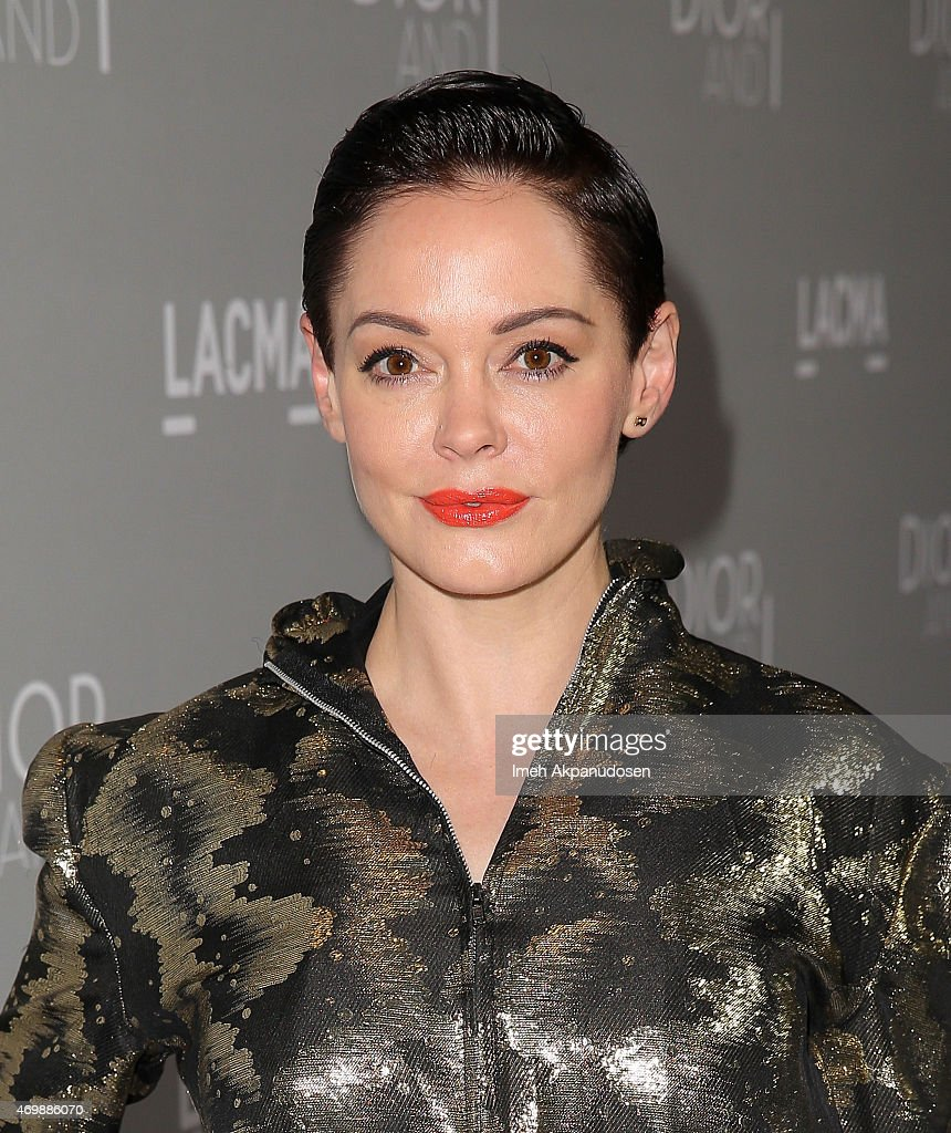 Actress <a gi-track='captionPersonalityLinkClicked' href=/galleries/search?phrase=Rose+McGowan&family=editorial&specificpeople=206451 ng-click='$event.stopPropagation()'>Rose McGowan</a> attends the premiere of The Orchard's 'DIOR & I' at LACMA on April 15, 2015 in Los Angeles, California.