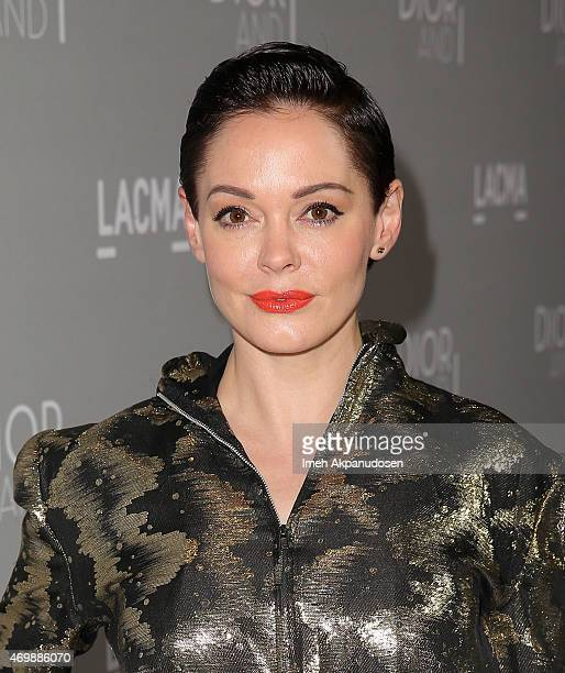 Actress Rose McGowan attends the premiere of The Orchard's 'DIOR I' at LACMA on April 15 2015 in Los Angeles California