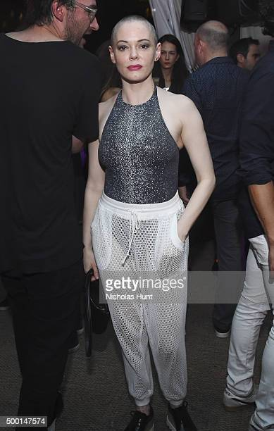 Actress Rose McGowan attends the Soho Beach House tent closing party with Rhonda International Lisa Solberg's Mister Lee's Shangri La Bombay Sapphire...