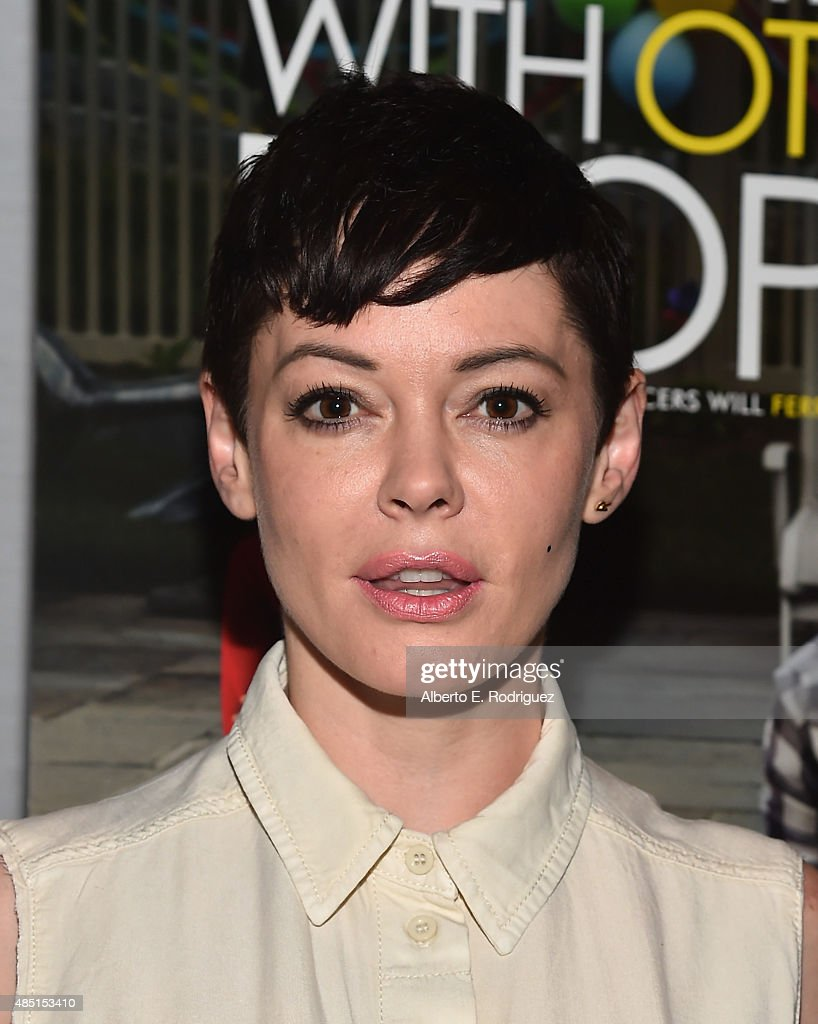 Actress <a gi-track='captionPersonalityLinkClicked' href=/galleries/search?phrase=Rose+McGowan&family=editorial&specificpeople=206451 ng-click='$event.stopPropagation()'>Rose McGowan</a> attends the Tastemaker screening of IFC Films' 'Sleeping With Other People' on August 24, 2015 in Los Angeles, California.