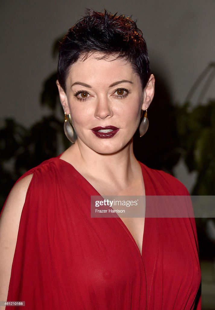 Actress <a gi-track='captionPersonalityLinkClicked' href=/galleries/search?phrase=Rose+McGowan&family=editorial&specificpeople=206451 ng-click='$event.stopPropagation()'>Rose McGowan</a> attends the W Magazine celebration of the 'Best Performances' Portfolio and The Golden Globes with Cadillac and Dom Perignon at Chateau Marmont on January 8, 2015 in Los Angeles, California.