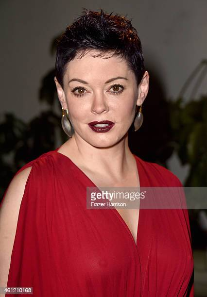 Actress Rose McGowan attends the W Magazine celebration of the 'Best Performances' Portfolio and The Golden Globes with Cadillac and Dom Perignon at...