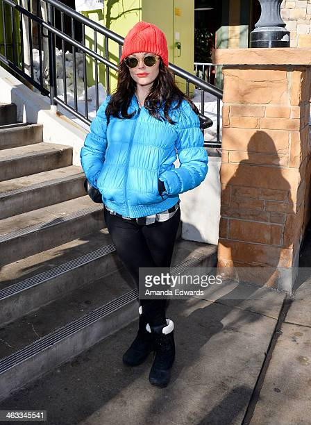 Actress Rose McGowan is seen at the 2014 Sundance Film Festival on January 17 2014 on the streets of Park City Utah