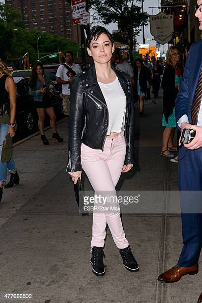Actress Rose McGowan is seen on June 18 2015 in New York City