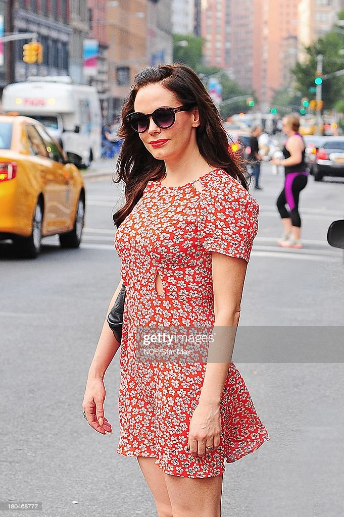 Actress Rose McGowan is sighted on September 12 2013 in New York City.
