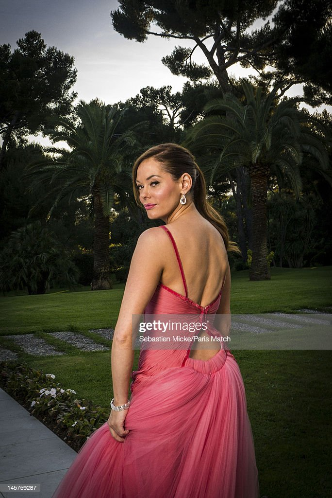 Actress Rose McGowan photographed at the amfAR gala for Paris Match on May 24, 2012 in Cap d'Antibes, France.