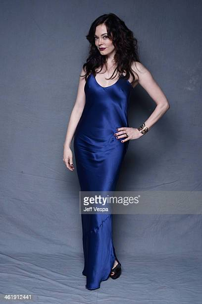 Actress Rose McGowan poses for a Wonderwall portrait at The Art of Elysium's 7th Annual HEAVEN Gala presented by MercedesBenz at Skirball Cultural...