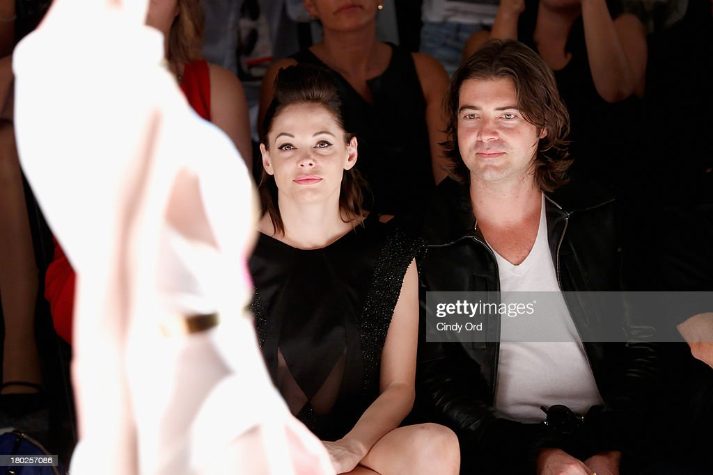 Actress Rose McGowen attends the Alon Livne fashion show during Mercedes-Benz Fashion Week Spring 2014 at The Studio at Lincoln Center on September 10, 2013 in New York City.