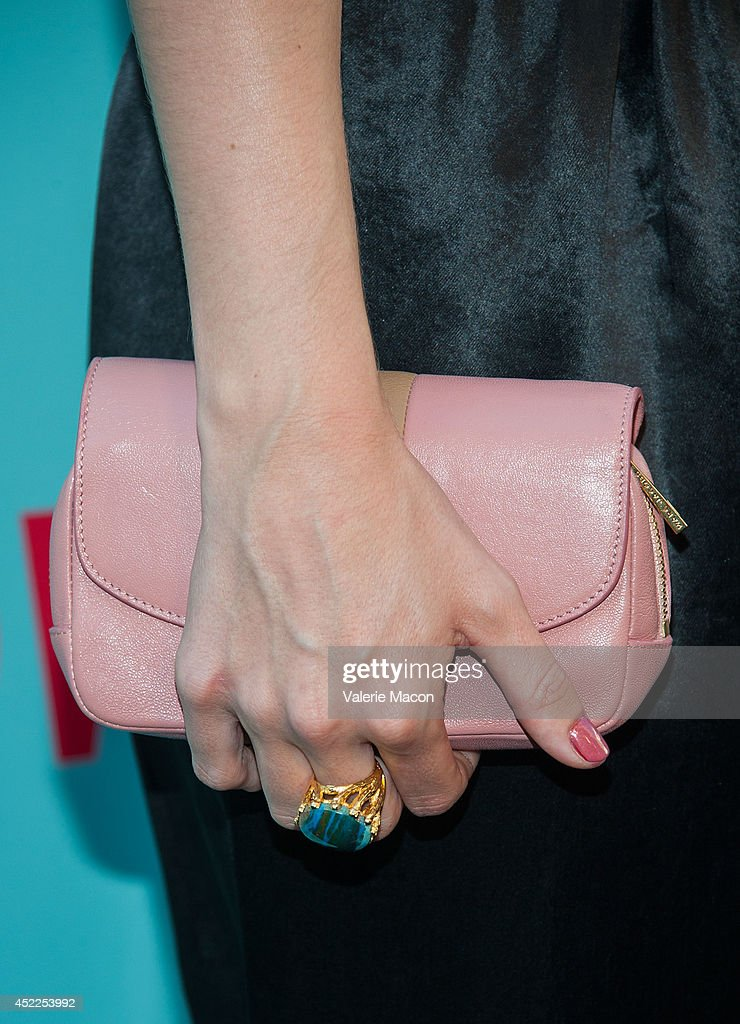 Actress Rose McIver (purse detail) attends Showtime's 'Masters Of Sex' Season 2 - 2014 Summer TCA Press Tour Event at Sony Pictures Studios on July 16, 2014 in Culver City, California.