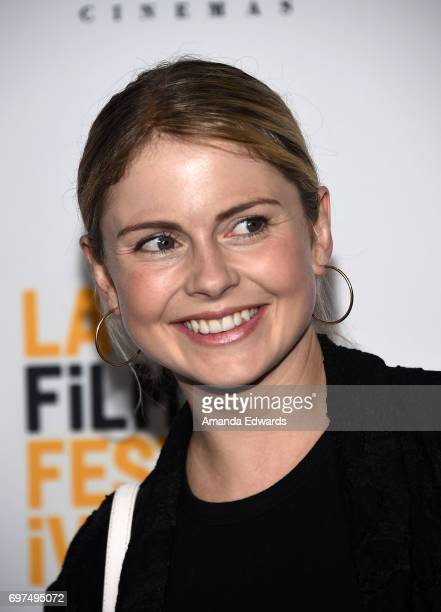 Actress Rose McIver attends the 2017 Los Angeles Film Festival 'Sun Dogs' premiere at the ArcLight Santa Monica on June 18 2017 in Santa Monica...