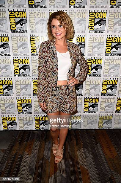 Actress Rose McIver attends the 'iZombie' press line during ComicCon International 2014 at Hilton Bayfront on July 25 2014 in San Diego California