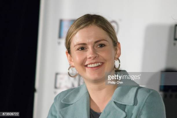Actress Rose McIver attends the 'iZombie' QA for Fan Expo Vancouver in the Vancouver Convention Centre on November 12 2017 in Vancouver Canada
