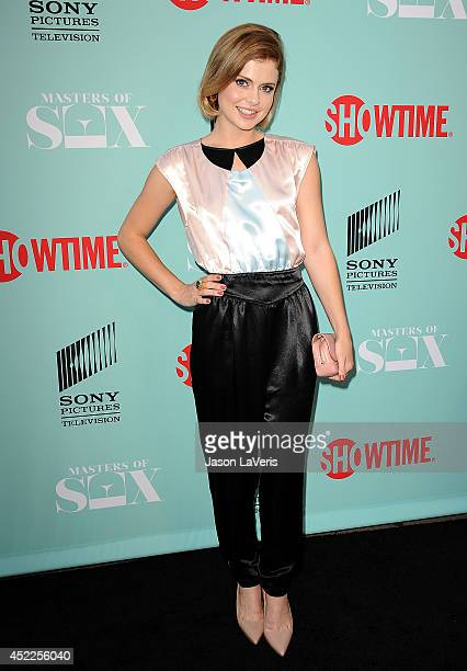 Actress Rose McIver attends the 'Master of Sex' TCA event at Sony Pictures Studios on July 16 2014 in Culver City California