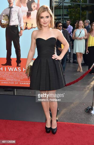 Actress Rose McIver attends the premiere of Focus Features' 'Wish I Was Here' at DGA Theater on June 23 2014 in Los Angeles California