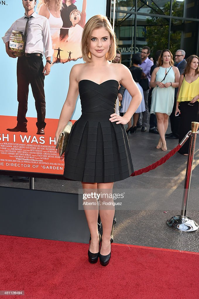Actress Rose McIver attends the premiere of Focus Features' 'Wish I Was Here' at DGA Theater on June 23, 2014 in Los Angeles, California.