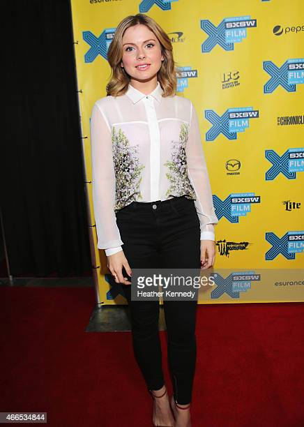 Actress Rose McIver attends the premiere of 'iZOMBIE' during the 2015 SXSW Music Film Interactive Festival at Austin Convention Center on March 16...