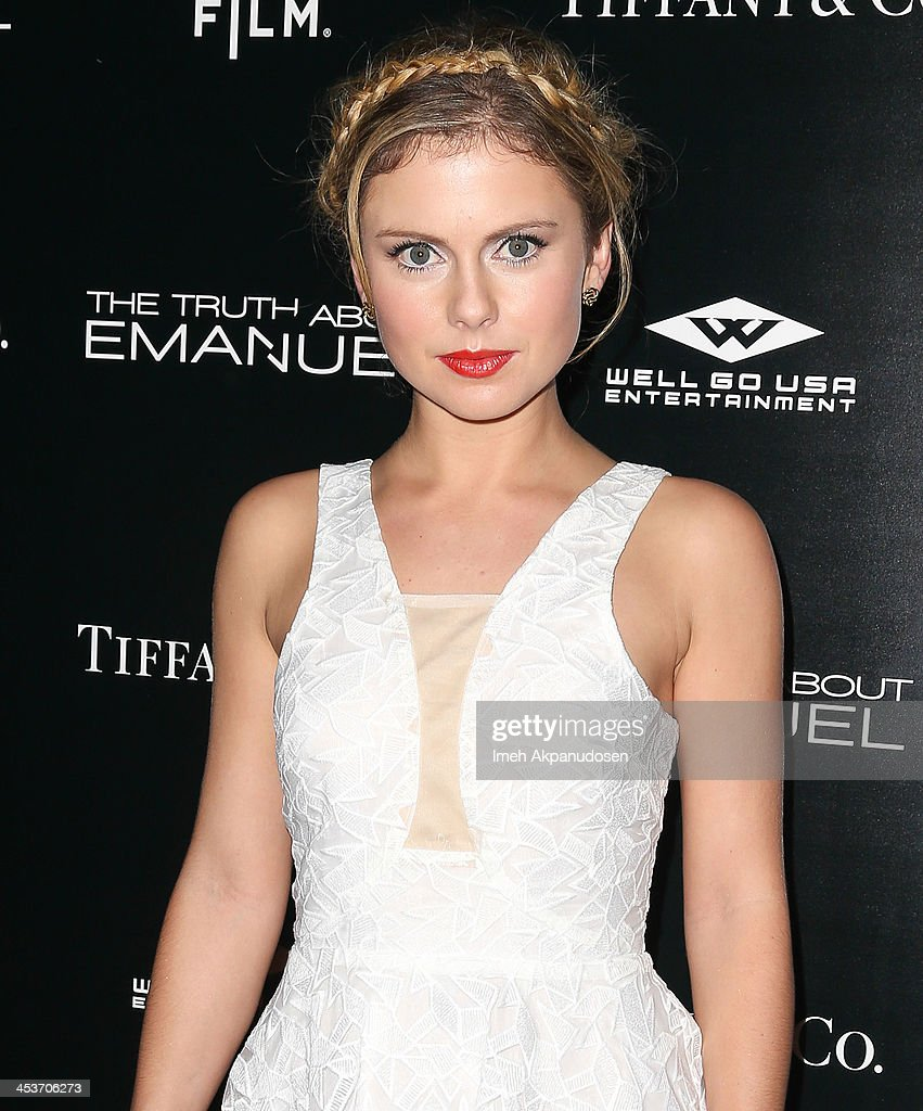 Actress <a gi-track='captionPersonalityLinkClicked' href=/galleries/search?phrase=Rose+McIver&family=editorial&specificpeople=6539142 ng-click='$event.stopPropagation()'>Rose McIver</a> attends the premiere of Tribeca Film and Well Go USA's 'The Truth About Emanuel' at ArcLight Hollywood on December 4, 2013 in Hollywood, California.